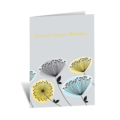 Modern Wildflowers - Citrus - Note Card and Envelope