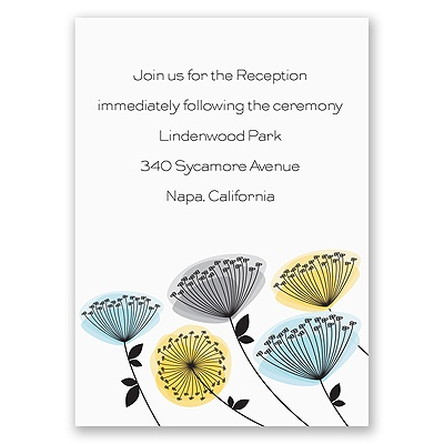 Modern Wildflowers - Citrus - Reception Card