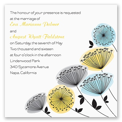 Modern Wildflowers - Citrus - Invitation