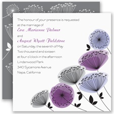 Modern Wildflowers - Grapevine - Invitation