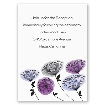 Modern Wildflowers - Grapevine - Reception Card