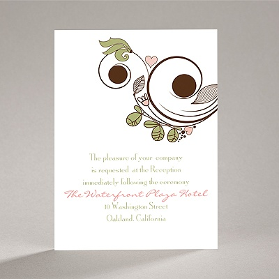 Whimsy Flowers - Reception Card