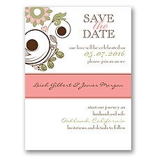 Whimsy Flowers - Save the Date Card