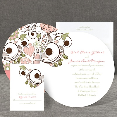 Whimsy Flowers - Invitation