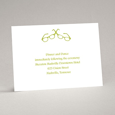 Spectacular Chic - Reception Card