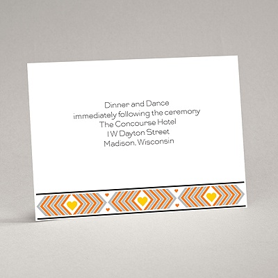 Tribal Hearts - Citrus - Reception Card