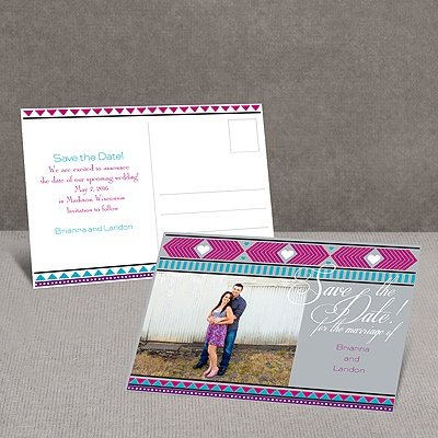 Tribal Hearts - Grapevine - Save the Date Postcard
