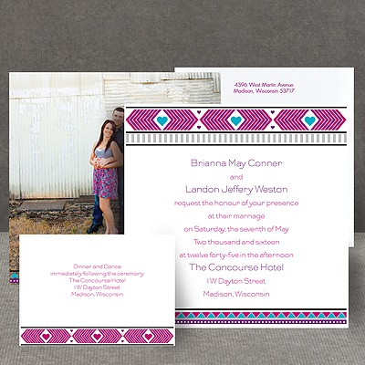 Tribal Hearts - Grapevine - Invitation