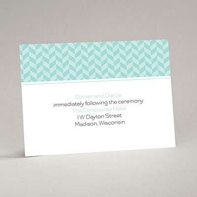 Woven Romance - Reception Card