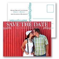 Leafy Garland - Save the Date Postcard