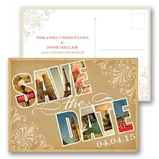 Souvenir - European - Save the Date Postcard