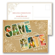 Souvenir - Tropical - Save the Date Postcard
