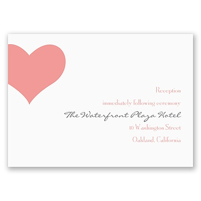 Heart Web - Reception Card