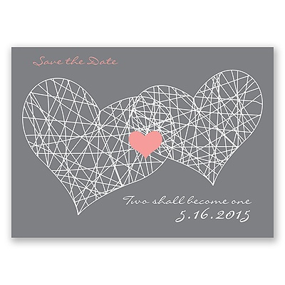 Heart Web - Save the Date Postcard
