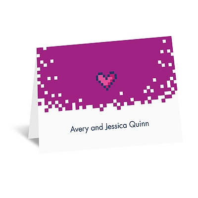 Bit of Retro - Amethyst - Note Card and Envelope