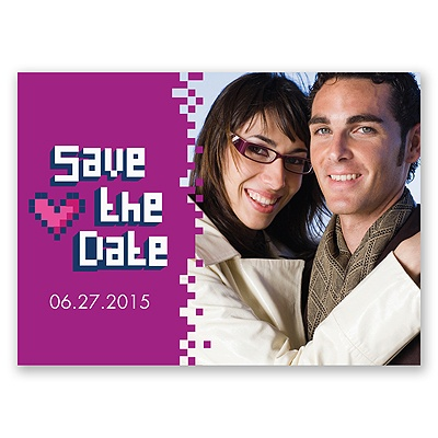 Bit of Retro - Amethyst - Save the Date Postcard