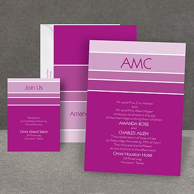 Ombre Stripes - Invitation