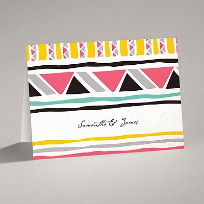 Tribal Patterns - Note Card and Envelope