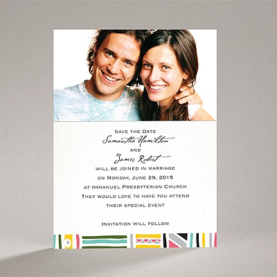 Tribal Patterns - Save the Date Card