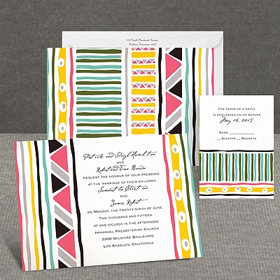Tribal Patterns - Invitation
