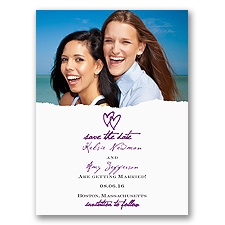 Mrs and Mrs - Save the Date Card