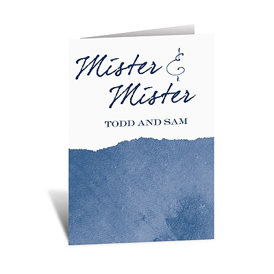 Mister and Mister - Note Card and Envelope