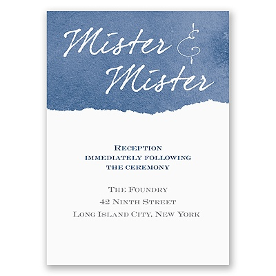 Mister and Mister - Reception Card