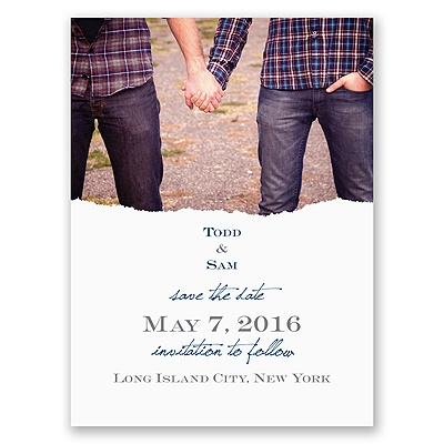 Mister and Mister - Save the Date Card