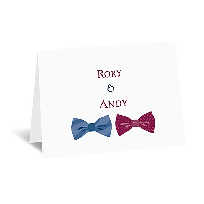 Bow Ties - Note Card and Envelope