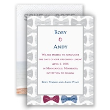Bow Ties - Save the Date Card