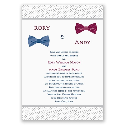 Bow Ties - Invitation