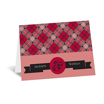 Moustaches - Merlot - Note Card and Envelope