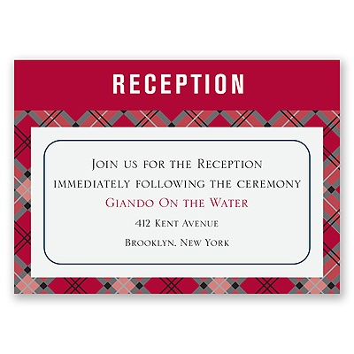 Moustaches - Merlot - Reception Card