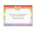 Rainbow Bling - Response Card and Envelope
