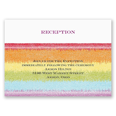 Rainbow Bling - Reception Card