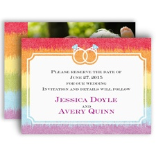 Rainbow Bling - Save the Date Card