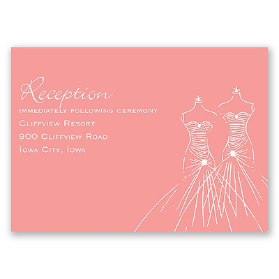 Glamour Brides - Reception Card