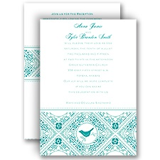 Lacy Love Birds - All In One Invitation