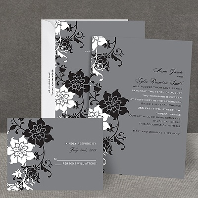Fashion Flowers - All In One Invitation