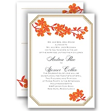 Fresh Flowers - Poppy - All in One Invitation