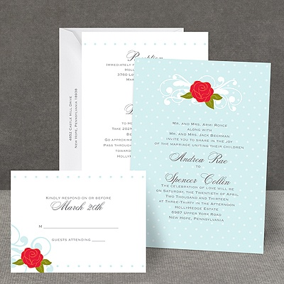 Sweet Rose - All In One Invitation