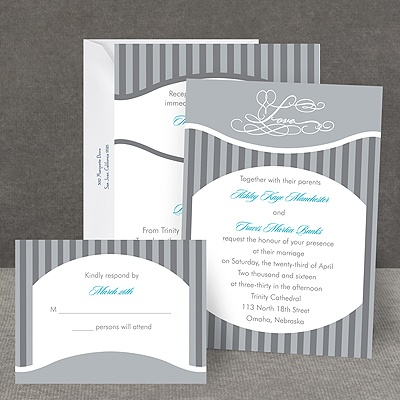 Vintage Stripes - All in One Invitation