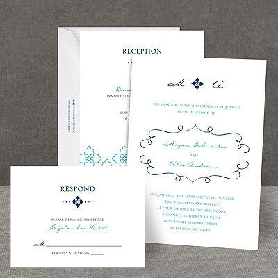 Fine Flourishes - All In One Invitation