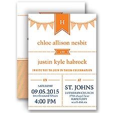 Preppy Pennant - All In One Invitation
