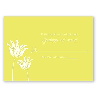 Blossoming Brides - Response Card and Envelope