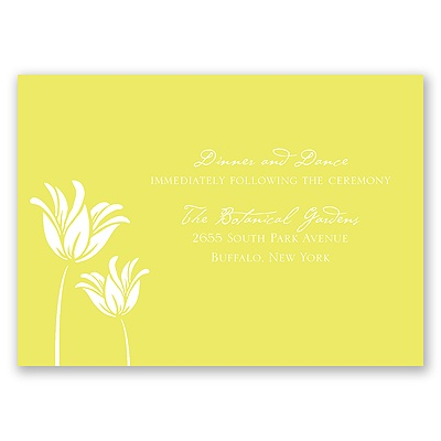 Blossoming Brides - Reception Card