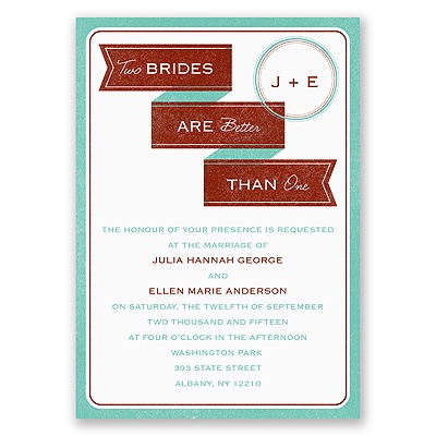 Two Brides - Invitation