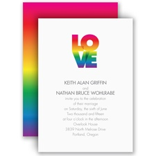 Rainbow Love - Invitation