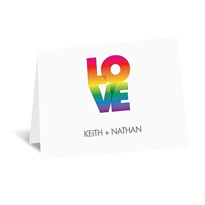 Rainbow Love - Note Card and Envelope