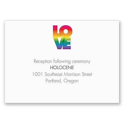 Rainbow Love - Reception Card